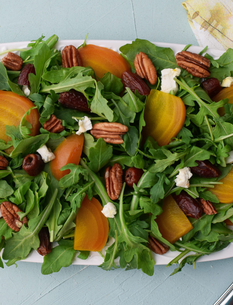 Beet, Goat Cheese and Date Salad